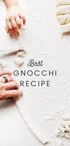 This easy homemade potato gnocchi recipe will be a family favorite for you! It's so simple to make right at home in your own kitchen and is so fluffy and delicious. #homemadegnocchifamilies #homemadegnocchieasy #potatognocchi #italianmeals #pastadishes #olivegarden