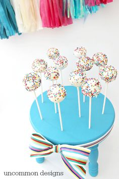 DIY Cake Pop Stand - Uncommon Designs
