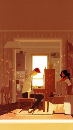 """""""The Piano"""" by Pascal Campion. This is beautiful reminds me of Ty n I"""