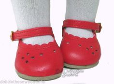 """Red Dress Shoes made for 18"""" American Girl Doll Clothes MONIQUES BRAND #Moniques"""