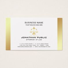 Attorney At Law Office Lawyer Elegant Plain Luxury Business Card - classy gifts vintage diy ideas