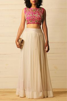 Youdesign Georgette Lehenga Choli In Cream Colour Size Upto 66 The Stylish And Elegant Lehenga Choli In Cream Colour Looks Stunning And Gorgeous With Trendy And Fashionable Fabric Looks Extremely Attractive And Can Add Charm To Any Occasion. Lehenga Crop Top, Lehenga Blouse, Red Lehenga, Lehenga Choli, Anarkali, Patiala Salwar, Bridal Lehenga, Wedding Chaniya Choli, Sharara