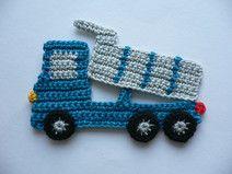 Tipper truck - crochet application Owl Crochet Patterns, Crochet Bunny Pattern, Crochet Teddy, Applique Patterns, Crochet Turtle, Crochet Dinosaur, Crochet Unicorn, Crochet Car, Free Crochet