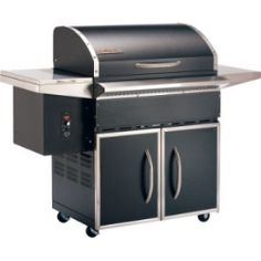 Traeger Select 400 BBQ400    Introducing Traeger's latest residential pellet grill, the SELECT. We preserved the best features of our popular DELUXE – its sleek design, high quality stainless steel trim, handy side tables, and enclosed storage space. What's different? We increased the flat grilling surface by over 37 percent! And the grill's large capacity hopper, now conveniently accessed from the outside, holds 18 lbs. of wood pellets for hours of uninterrupted grilling and smoking
