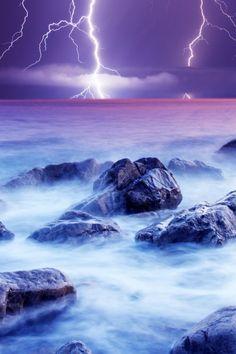 ocean lightning
