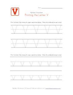 Traceable Letter V