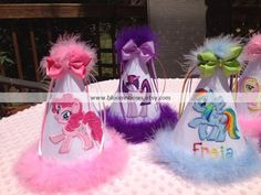 Personalized My Little Pony Birthday Party Hat you by bloomnbows