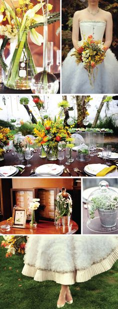 OMG Science bell jars as inspiration for wedding reception decor