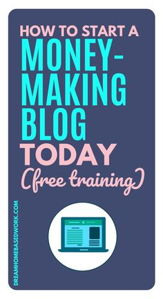 I've been in this blog business a long time and as I have a passion for helping others I want to help you navigate and learn the basics of blogging.To help you on this blogging journey I have created this simple 3-part FREE video series to get your blog set up and ready to go! This free course is filled with all the essential information to get you started straight away! #blogger #beginner #workathome #blog Earn Money Online Fast, Earn Money From Home, Make Money Blogging, How To Make Money, Home Based Work, Work From Home Tips, Make Blog, How To Start A Blog, Business Help