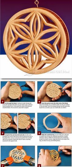Ornaments - Chip Carving Patterns - Wood Carving Patterns and Techniques | WoodArchivist.com