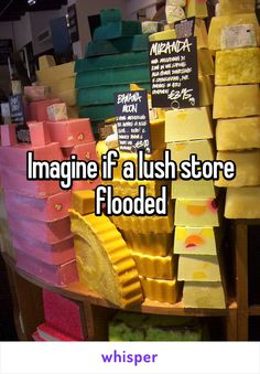 Imagine if a lush store flooded