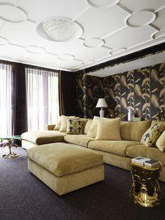 Black & gold living room | Designed by Greg Natale