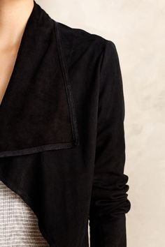 Draped Suede Jacket - anthropologie.com #anthrofave