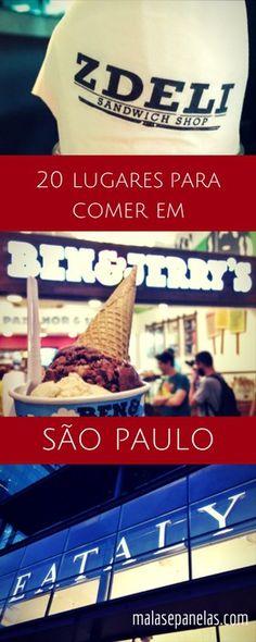 Para quem vai passar alguns dias na cidade, esta lista com 20 lugares para comer em São Paulo é imprescindível. Tem opções para todos os gostos e bolsos.