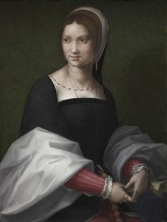 Portrait of a Woman circle of Andrea del Sarto (Italian, 1486-1530) (Italian painter, tudor england sitter by looks.)
