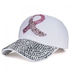 $4.48 Chic Ribbon Shape Rhinestones Embellished Baseball Cap For Women