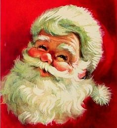 Santa card--love this one! Vintage Christmas Images, Victorian Christmas, Retro Christmas, Christmas Love, Vintage Holiday, Winter Christmas, Christmas Ornaments, Santa Pictures, Christmas Greetings