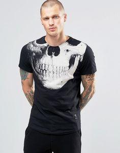 Image 1 - Religion - T-shirt à imprimé tête de mort Religion sur la poitrine