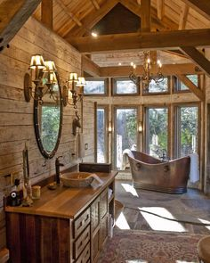 Rustic log home constructed by Appalachian Antique Hardwoods of Waynesville NC.
