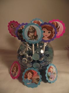 12 Disney Sofia the First Party Cupcake by InspirationsToCraft, $6.00