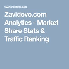 Zavidovo.com Analytics - Market Share Stats & Traffic Ranking