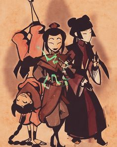 The girls of avatar. yeah there's more but. These are the Main evil people❤️❤️