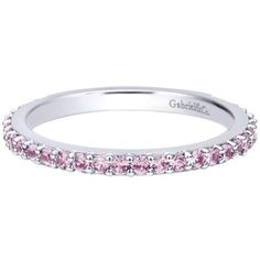 Gabriel Classic Created Pink Zircon Prong Set Ring 0.54 Cts Diamonds · LR4576W4JPS · Ben Garelick Jewelers