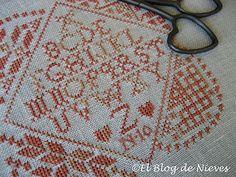 Four Corners Quaker punto de cruz cross stitch point de croix
