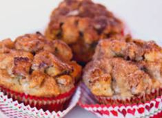 French Toast Muffins (made with cinnamon swirl bread)