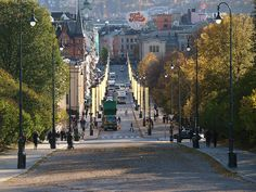 Karl Johansgate, the main street of Oslo. Main Street, Street View, Oslo, Maine, Sidewalk, Side Walkway, Walkway, Walkways, Pavement