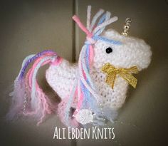 Easter Knitted Unicorn Creme Egg / Cream Egg Cover Covers hand knitted