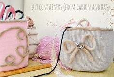 Craft containers from #recycled milk jugs. #diy #milkjugs