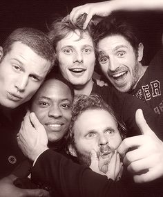 Tom Hopper, Adetomiwa Edun, Bradley James, Rupert Young, & Eoin Macken