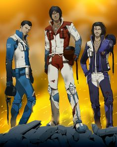G1 humanized seekers! I love how they drew skywarp and thundercracker!!!! *Fangirls all over the place*