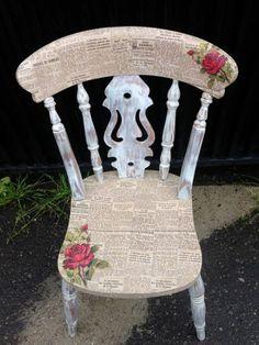 aus alt neu machen stuhl vintage retro zeitung rote rosen diy pflanzen