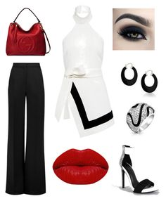 """""""in the office"""" by ashleyvvilliams on Polyvore featuring Finders Keepers, Roksanda, Bling Jewelry, Gucci and Winky Lux"""