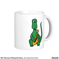 BX- Dinosaur Plaing the Saxophone Mug
