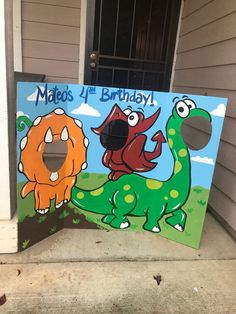 Dinosaur Birthday- Dinosaur Party- Dinosaur Cutout- Dinosaur Photo Op- Dinosaur Photo Prop- Prehistoric Party- Dino Face In The Hole- Dinos Dinosaure dinosaure anniversaire Party dinosaure dinosaure Dinosaur Party Games, 1st Birthday Party Games, Park Birthday, 1st Birthday Themes, Dinosaur Birthday Party, Boy Birthday, Birthday Ideas, Women Birthday, Third Birthday