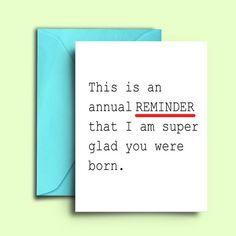 Simple Funny Happy Birthday Card for Boyfriend, Girlfriend, Best Friend, Sister,… - Modern Birthday Wishes For Boyfriend, Happy Birthday Quotes For Friends, Birthday Card Sayings, Birthday Wishes Quotes, Birthday Messages, Funny Birthday Cards, Card Birthday, Birthday Cards For Sister, Birthday Humorous