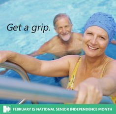 Senior Independence Tip: Get a Grip! Install grab bars and handrails in restrooms near the shower, bathtub and toilet. Using non-slip mats and placing double-sided tape under rugs can also help minimize slips.