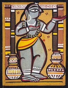 Jamini Roy, Gallery Of Modern Art, Indian Folk Art, Indian Art Paintings, Last Supper, Mural Painting, Tribal Art, Custom Art, Asian Art