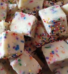 More Cake Batter Fudge