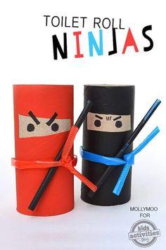 Ninja z rolki po papierze t