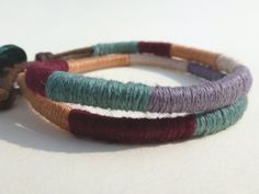 Hey, I found this really awesome Etsy listing at https://www.etsy.com/listing/111289528/cotton-thread-double-wrap-bracelet