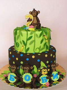 Monkey cake for Bobie by bubolinkata