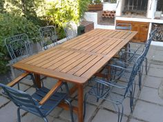 Table made with pallets for family dinners #Furniture, #Outdoor, #Pallets, #Table