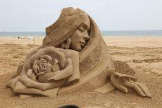 2019 Fulong International Sand Sculpture, Art By 王杰 , Sandy, Tianjin, from China Snow Sculptures, Sculpture Art, Concrete Sculpture, Wire Sculptures, Abstract Sculpture, Bronze Sculpture, Burning Man, Minions, Sand Art
