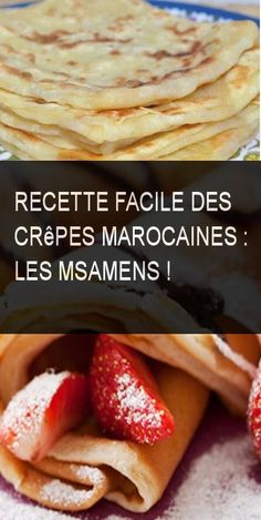 Recette facile des crêpes marocaines : Les Msamens ! #Crepe #Recette #Facile Oriental Food, Beignets, Food And Drink, Favorite Recipes, Voici, Cooking, Breakfast, Ethnic Recipes, Pin