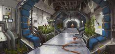Mars station corridor 01 by Kurobot.deviantart.com on @deviantART