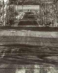 Down Mulberry #mulberrystreet #minnesota #stillwatermn #monochrome #winter #hill #stcroixriver